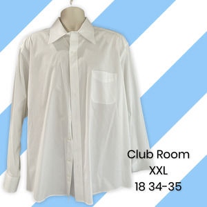 Club Room Men's white dress shirt, XXL, 18 34/35